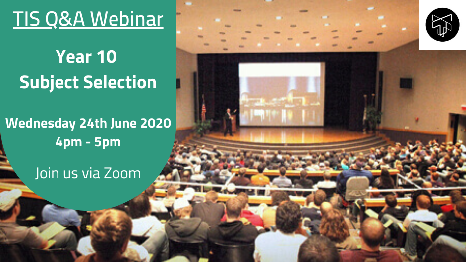 Webinar 2020 - Updated Year 10 Subject Selection